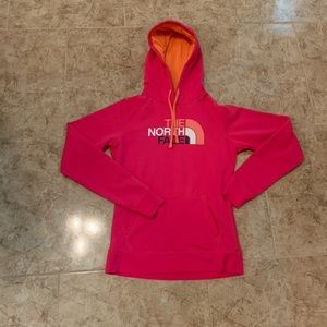 New the north face hot pink sweatshirt